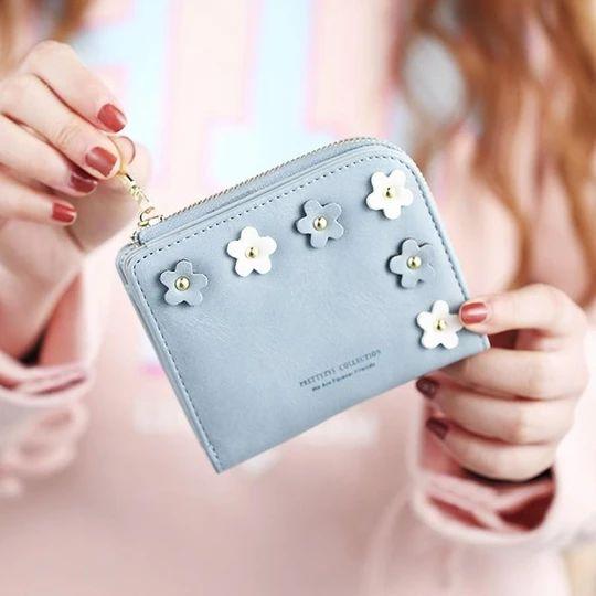 Neue Mode Blume Frauen Brieftasche Kleine Reißverschluss Frauen Geldbörse Marke Weibliche Shortintothea