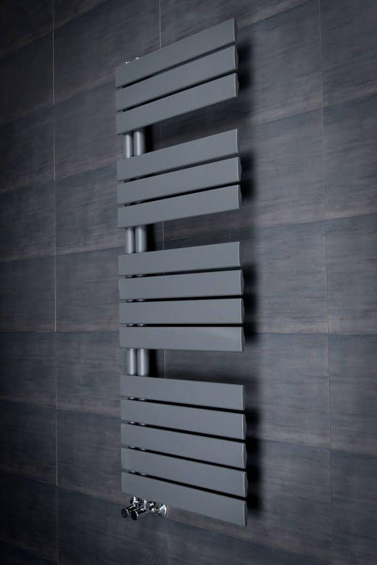 Bathroom radiators towel rails it is represent classic rectangular - Kristiansund 1380 X Flat Sand Grey Designer Heated Towel Rail Bathroom Takeaway