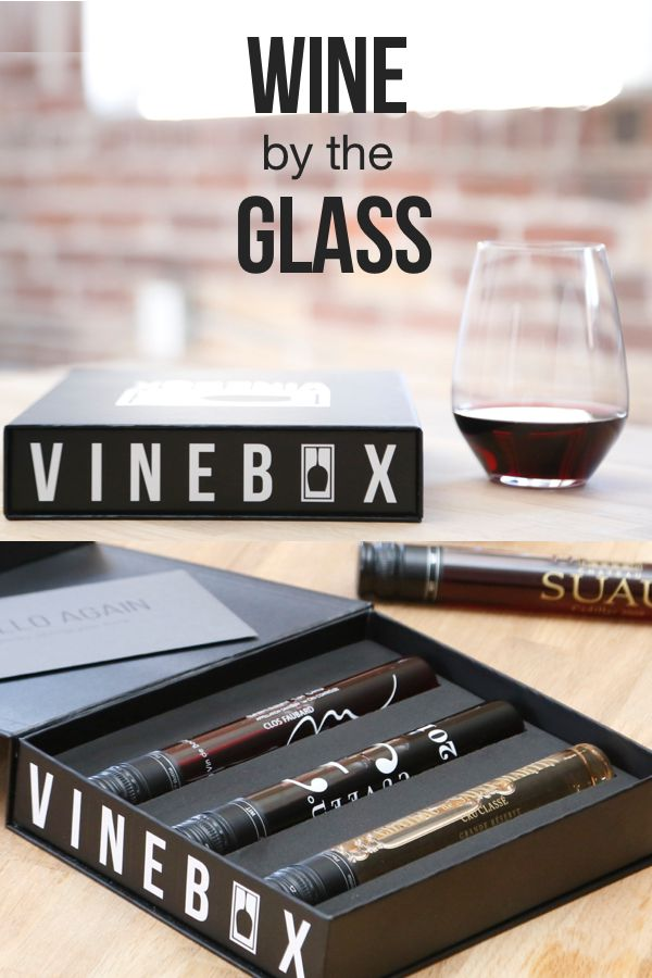 VINEBOX delivers 3 perfectly curated pours of wine to your door every month. Discover new wines in our patented glass format. Learn by drinking or just enjoy a glass of red or white on any night. Sign up for our exclusive deal with code PIN10 and wine better with VINEBOX.