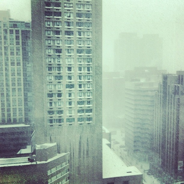 What winter looks from my office @HarperCollins Canada.