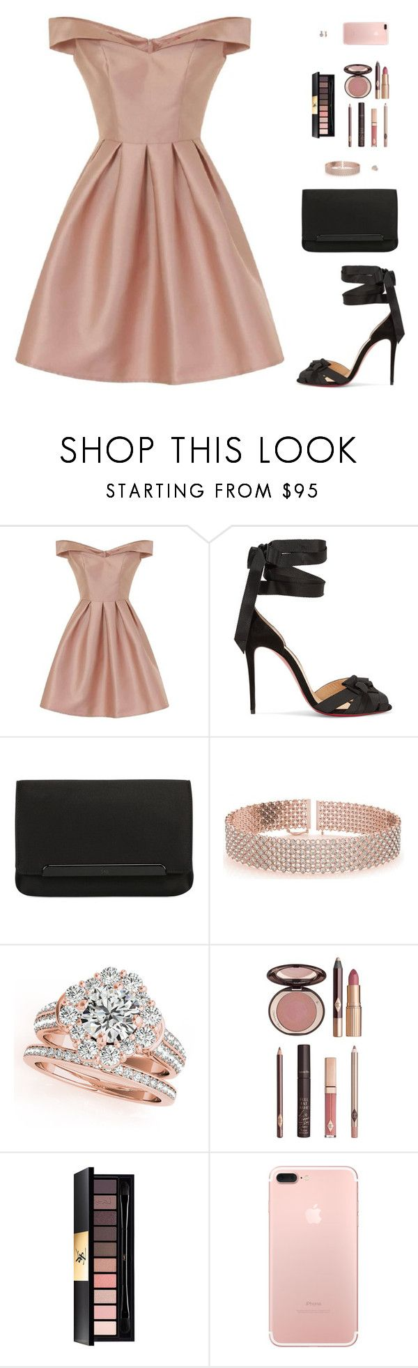"""""""Sin título #4666"""" by mdmsb on Polyvore featuring moda, Chi Chi, Christian Louboutin, Allurez, Charlotte Tilbury y Yves Saint Laurent"""