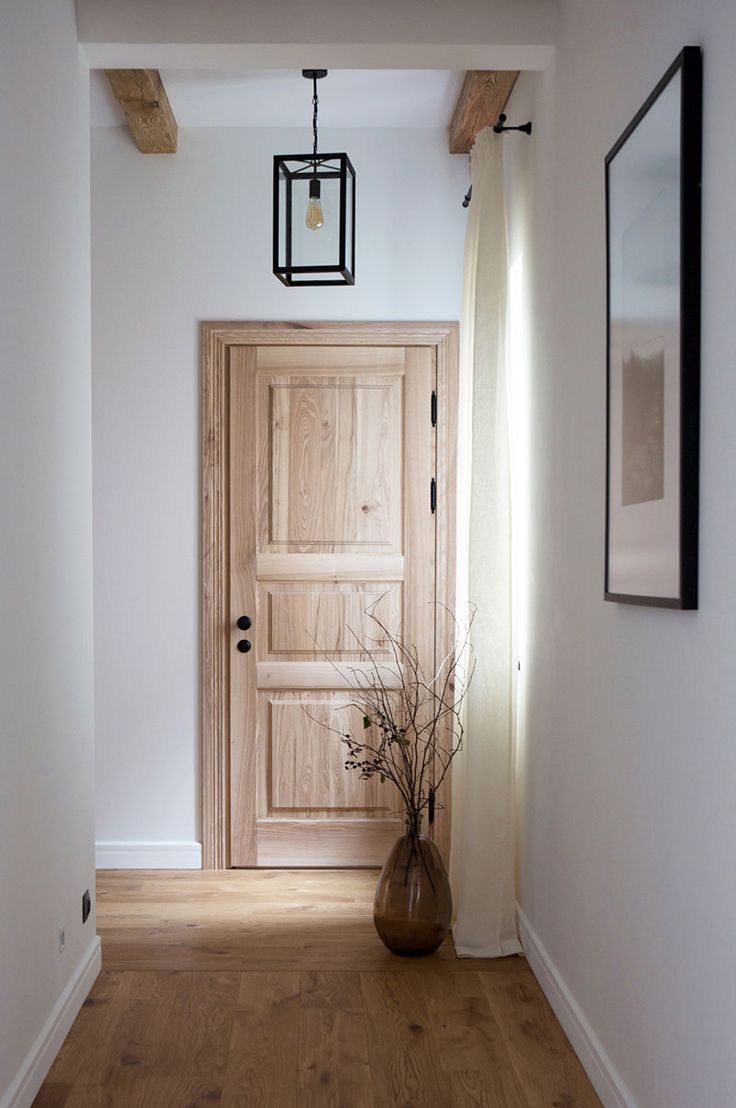 Our first project: Ranch-inspired home in Kyiv, Ukraine #interior #design #home #decor #idea #inspiration #cozy #style #room #hall #way #hallway #wooden #door #parquet #floor #white #wall #natural #material