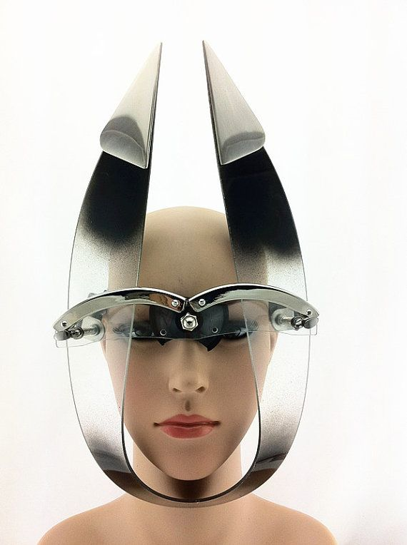 Hi Tek Alexander handmade futuristic modern steampunk  unusual party eyewear mask