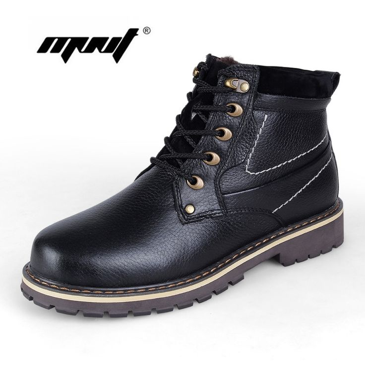 53.85$  Watch here - http://alim7n.shopchina.info/1/go.php?t=32725425065 - -40 C keep Warm Men Winter Boots Genuine Leather boots Russian Style Handmade Snow boots Outdoor Shoes Winter Fashion Men Shoes  #buyonlinewebsite