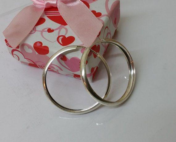 Silbercreolen Creolen Ohrringe Silber 925 SO227 von Schmuckbaron