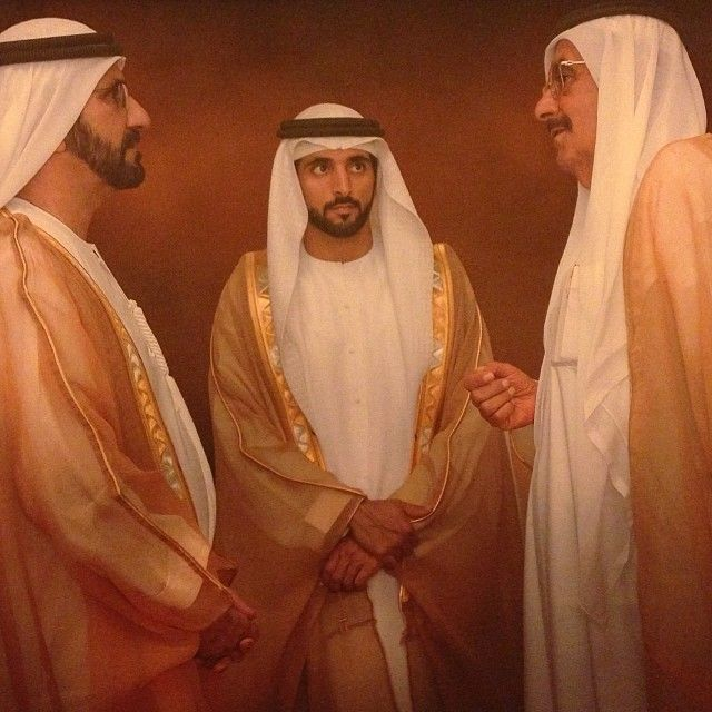 """Tyrese Gibson: """"Allow me to explain what's going on in this pic... Shk Mohammed greeting his brother Shk Hamadan, with crown prince faz3 in the middle aka (( the guy you seen us hanging with today..)) #MyDubai people....... Trust me this is #MyDubai ... Fewer me out people... Follow >>>>  faz3"""""""