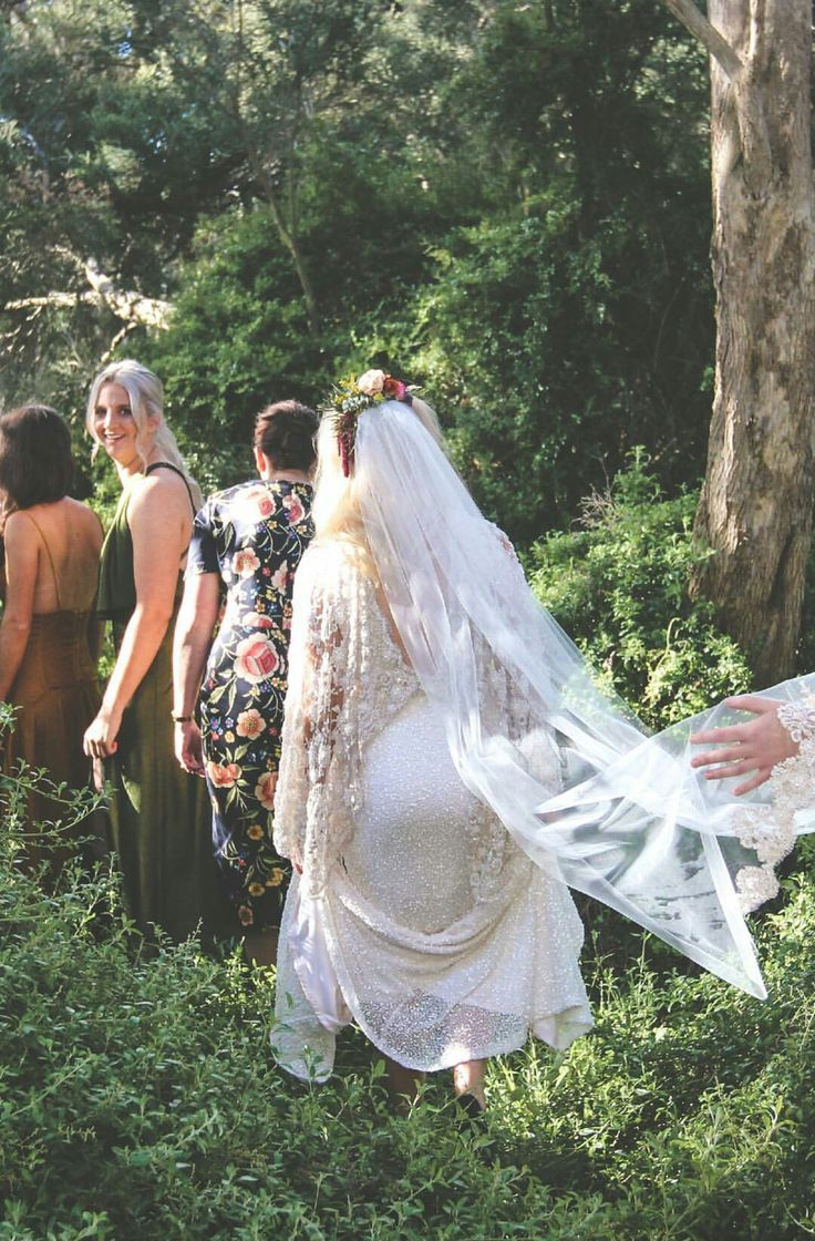 Bride tribe. Gorgeous girls in gorgeous mismatch dresses