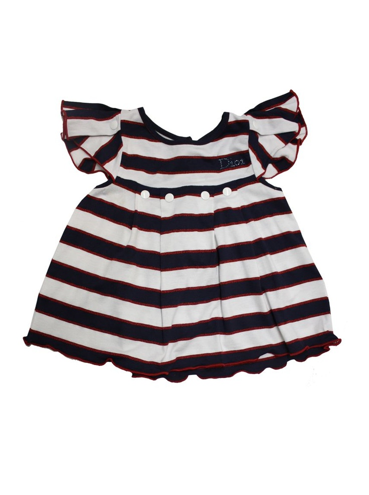 Baby Dior Kids girls nautical striped smock style t-shirt top