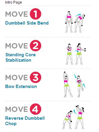 Standing Abs exercises with weights