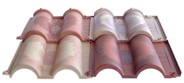 Tuiles Romane vieillies pour toitures à pente légère