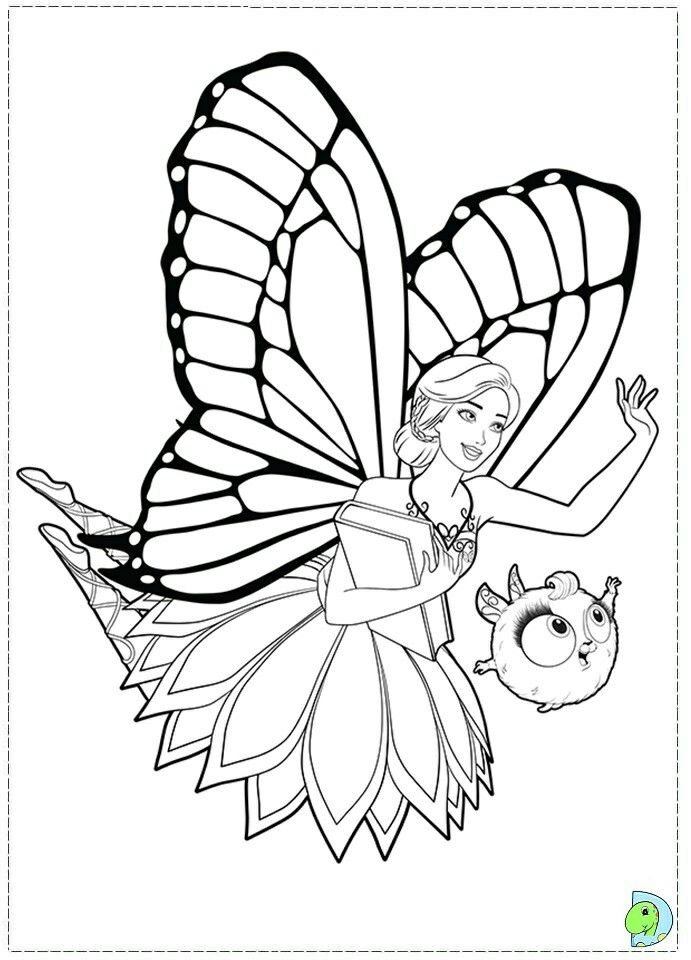 Pin By Renata On Barbie Coloring Butterfly Coloring Page Princess Coloring Pages Barbie Coloring Pages