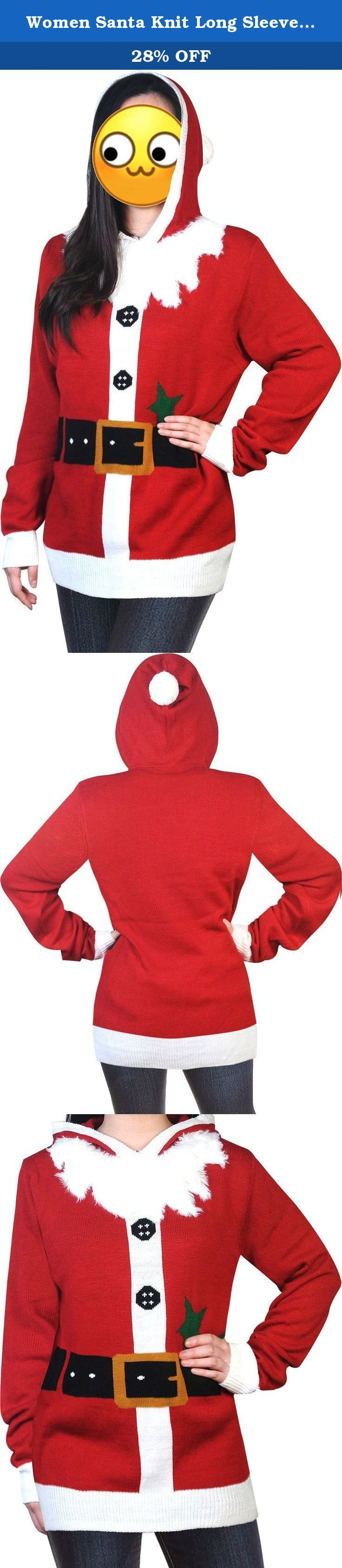Women Santa Knit Long Sleeve Christmas Pullover Fleece Sweater Xmas Sweatshirt Jumper Red L. For G and PL Women's Ugly Christmas Sweaters / Cardigans / Sweater Dress 100% Premiere Acrylic Ugly Christmas Sweater Made For G and PL. Well Made Double Panel Construction and Reinforced Seams. Fast Ship(FBA):Fulfilled by Amazon with two-day Shipping (Ship from USA) Size of our products is Matching With US Size, Fits to Amazon Regular Women Sweaters Size! Fits True to Size.Please See size chart…