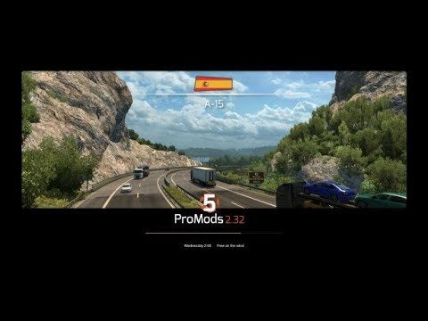 Euro Truck Simulator 2 promods 2 32 From Invalo city down To
