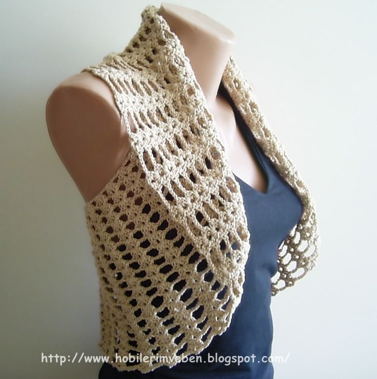 Crochet vest | MY WORLD CRAFT - This looks insanely easy. It would be easy to add sleeves too.