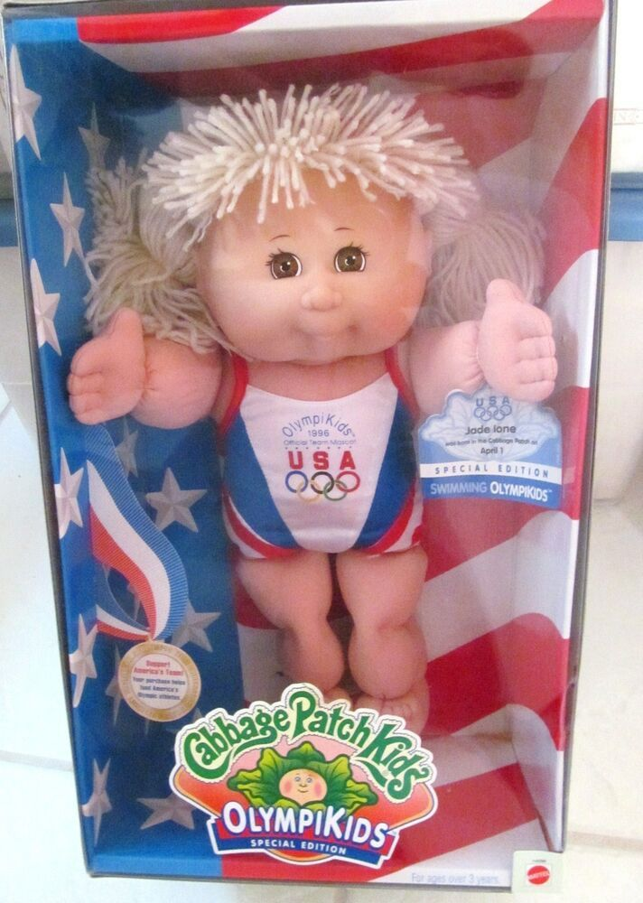 Cabbage Patch Kids Olympikids Doll Swimming 1996 Spec Ed Jade Ione Vtg New Cabbagepatch Doll Patch Kids Cabbage Patch Kids Dolls Cabbage Patch Kids