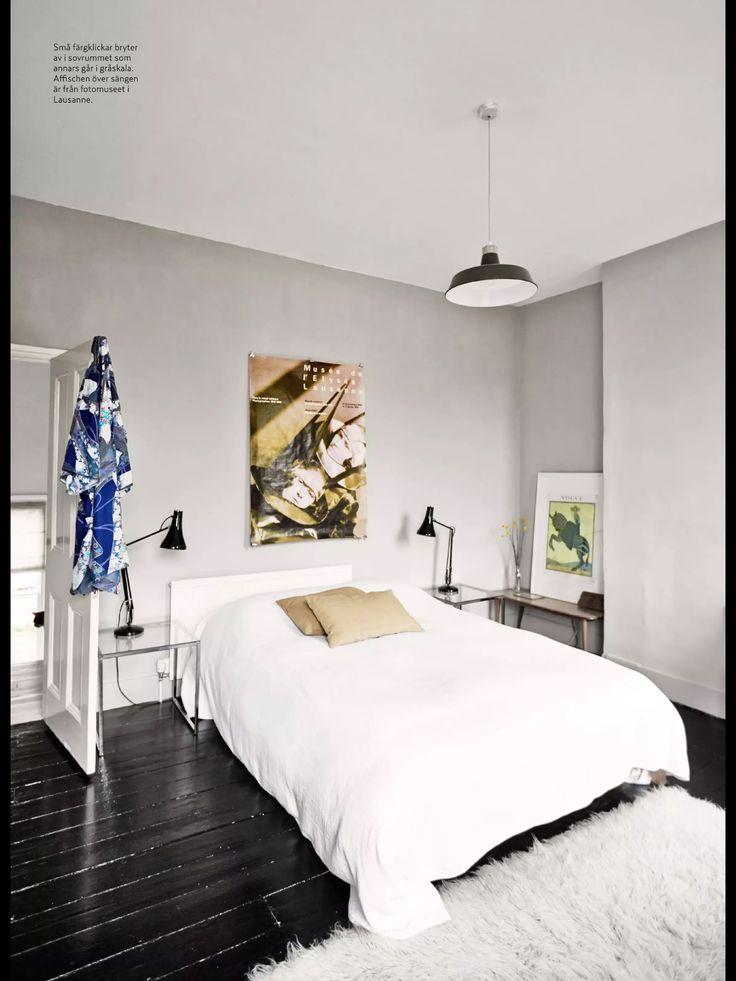 Grå vägg i sovrum Home Pinterest Bästa idéerna om Grå och Sovrum