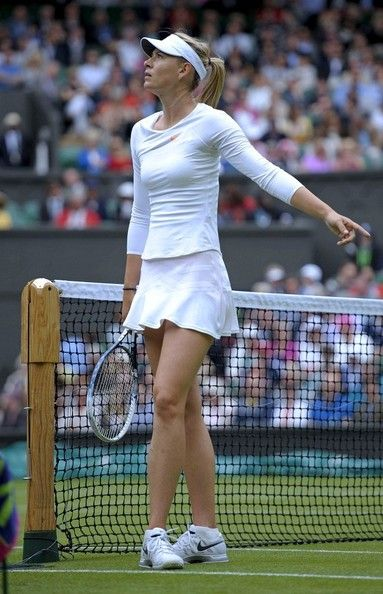 Maria Sharapova at the Wimbledon Lawn Tennis Courts on June 25, 2013.