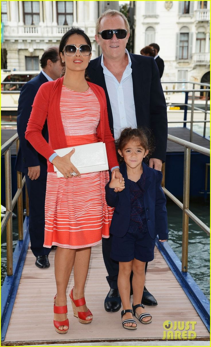Salma Hayek and her equally fashionable family.