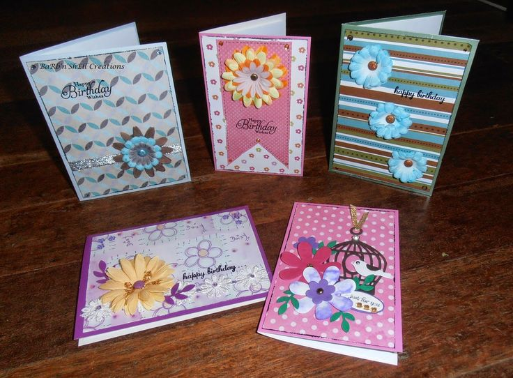 """BaRb'n'ShEllcreations - Cards created using """"Leftover"""" Scrap Card Fronts - made by Shell"""