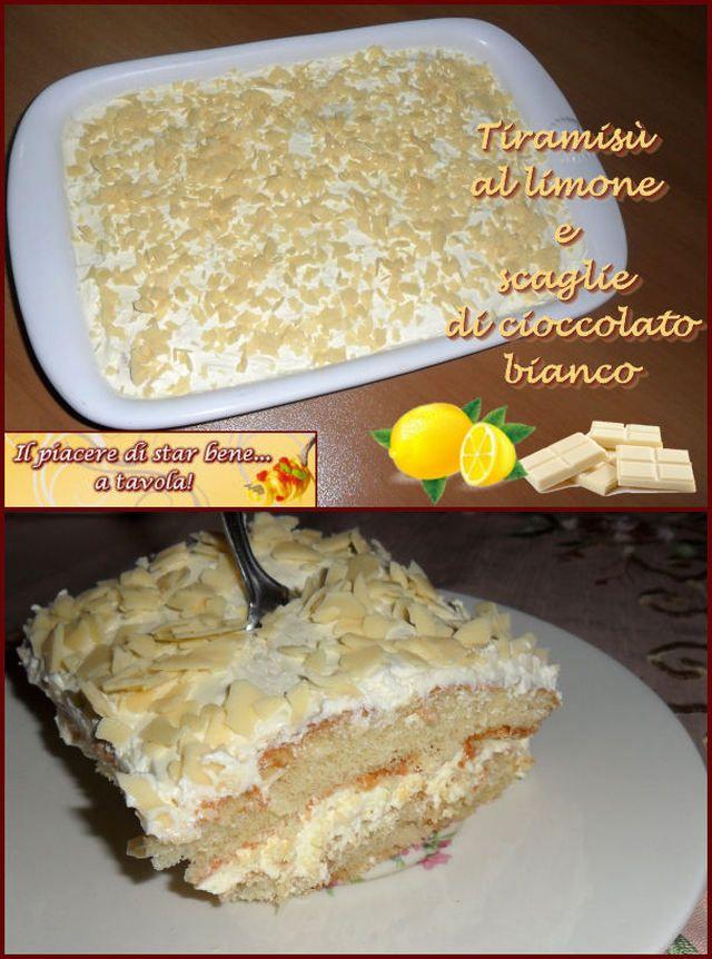 Un'idea alternativa al solito tiramisù. Provatelo al limone con scaglie di cioccolato bianco. scaglie di Ingredienti