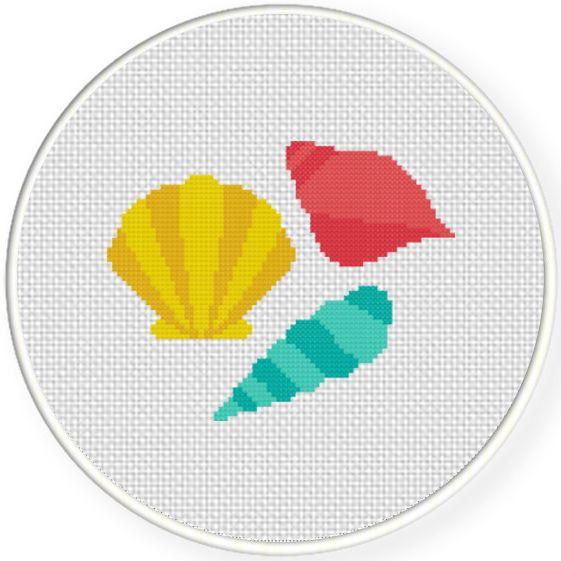 FREE Pretty Seashells Cross Stitch Pattern