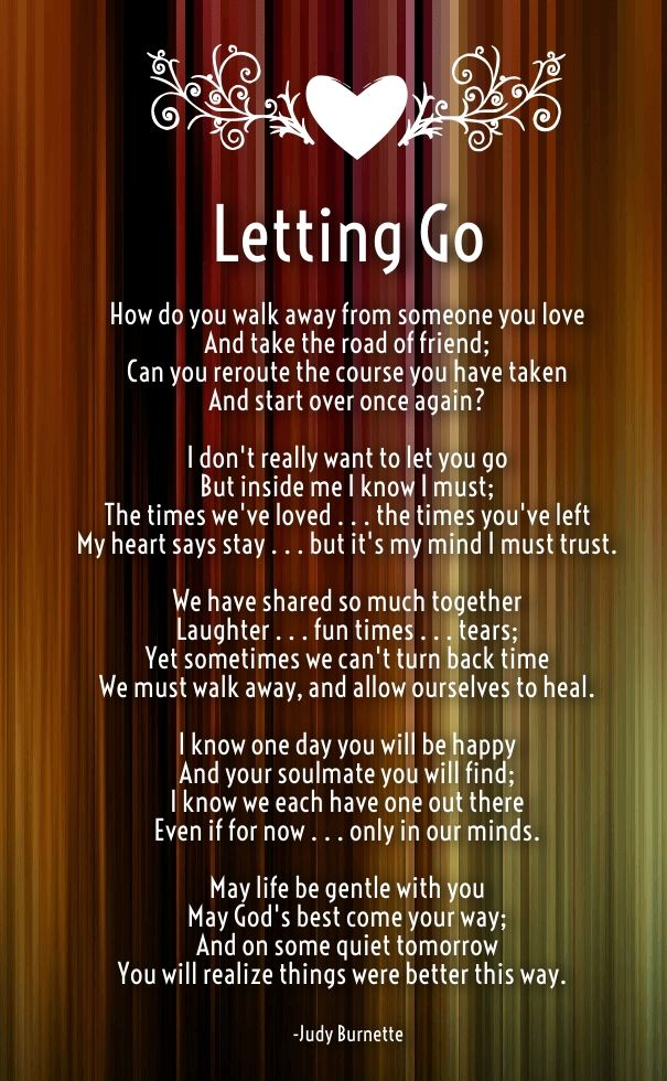 Letting Go Of Someone You Love Poems Romantic Poems For Her Love