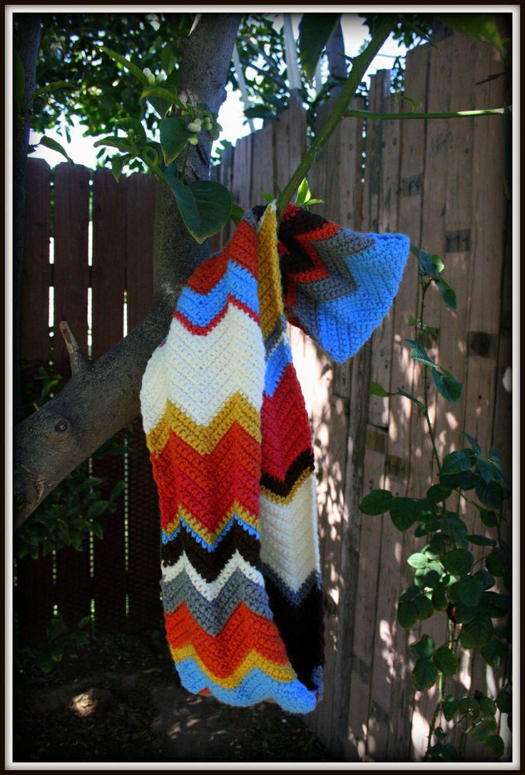 FREE Crochet Pattern: Chevron Infinity Scarf Kimberlee Engels