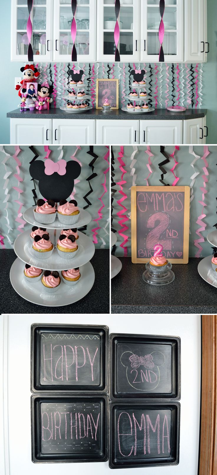 Minnie Mouse DIY birthday party for a little girl