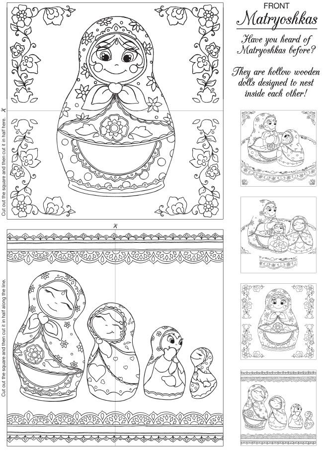 Russian Princess Coloring Pages : Best color matryoshka images on pinterest