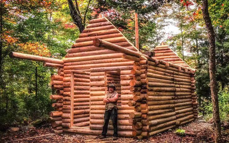 Sådan bygger du din egen træhytte med de bare næver