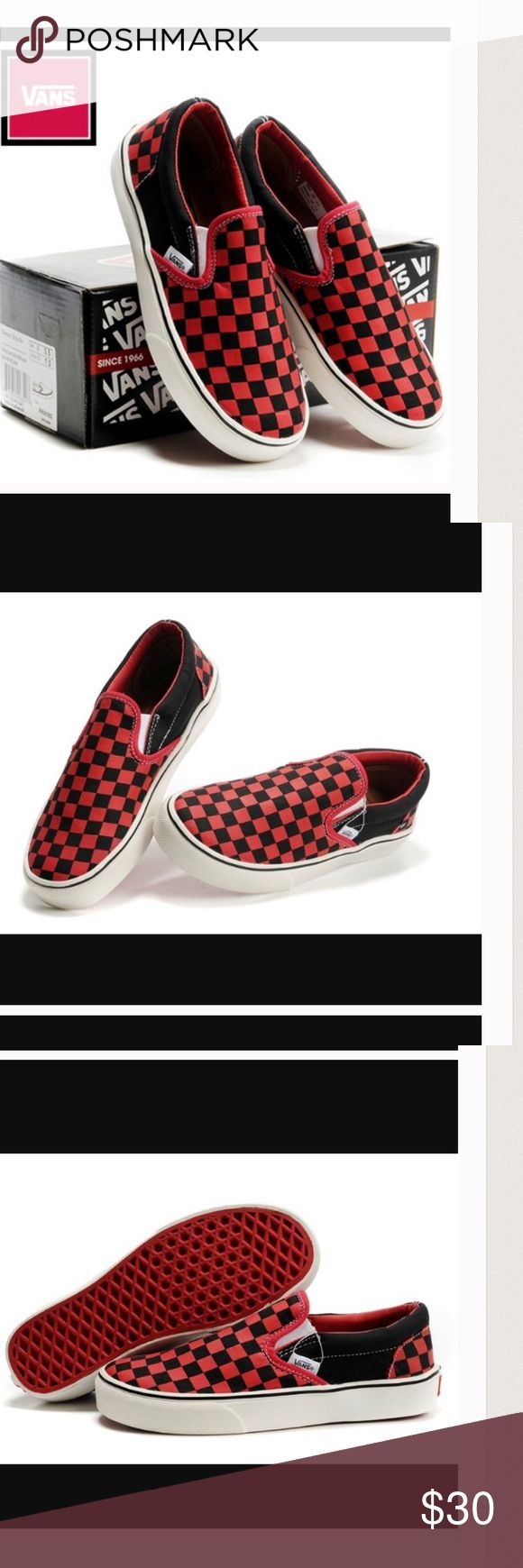 NWT Vans classic Checkerboard slip on NWT Vans checkerboard slip on.various sizes. Vans Shoes Sneakers