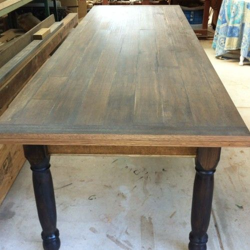 Recycled Industrial Timber Wooden Dining Kitchen Refectory Table Handmade | eBay