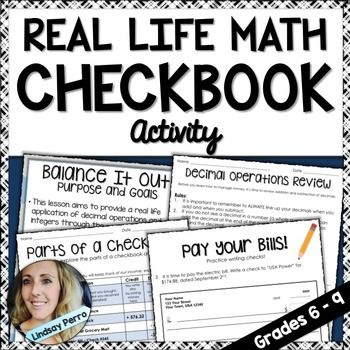 This lesson is a great way to introduce students to writing checks and balancing checkbooks. Students start out with a review of adding and subtracting decimals, are shown detailed checks and transaction registers and given the opportunity to practice writing checks and balancing a checkbook.                                                                                                                                                                                 More