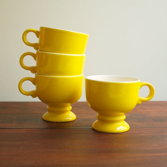 Vintage Mikasa Footed Cups / 1970s / by KitchenTableVintage, $24.00