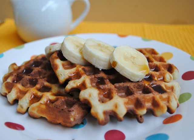 Whole Wheat Banana Waffles- a regular in our house!