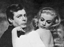 "Marcello Mastroianni and Anita Ekberg in "" La dolce vita"