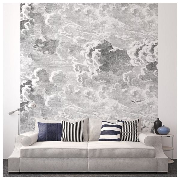 Décor mural - Cole and Son - Nuvole - Gris - just a panel