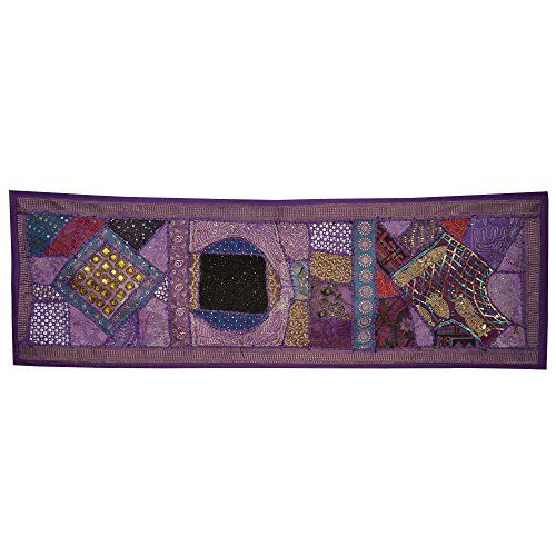 Wall Décor Beads, Sequins Thread and Patch Work Wall Hanging DronaIndia