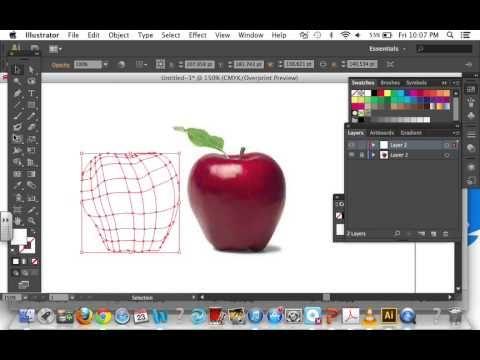 Adobe Illustrator: Using the mesh tool (Creating an apple) - YouTube