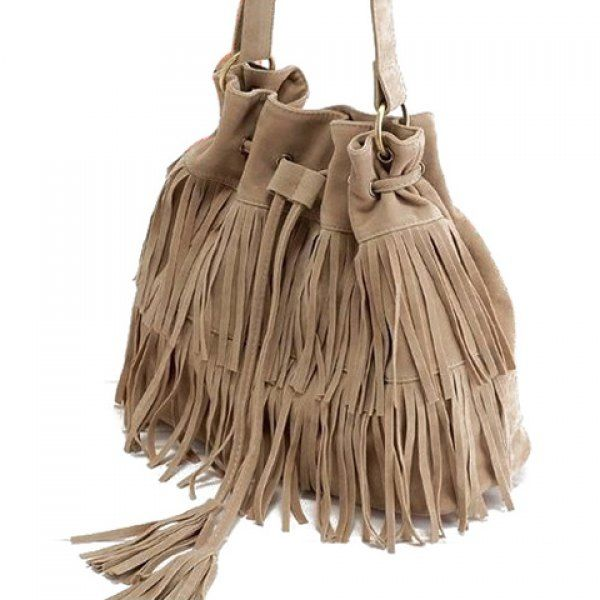 Retro Style Tassels and Suede Design Women's Crossbody Bag, APRICOT in Crossbody Bags | DressLily.com