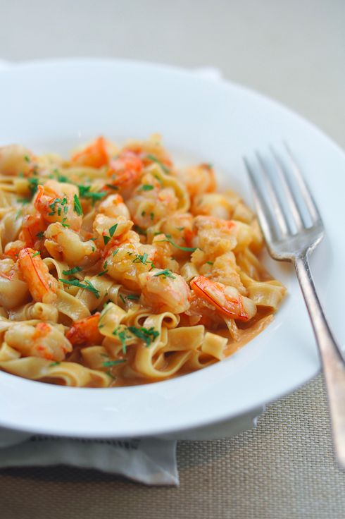 Shrimp Pasta with Creamy Bisque Sauce | 24 Of The Most Delicious Things You Can Do To Shrimp
