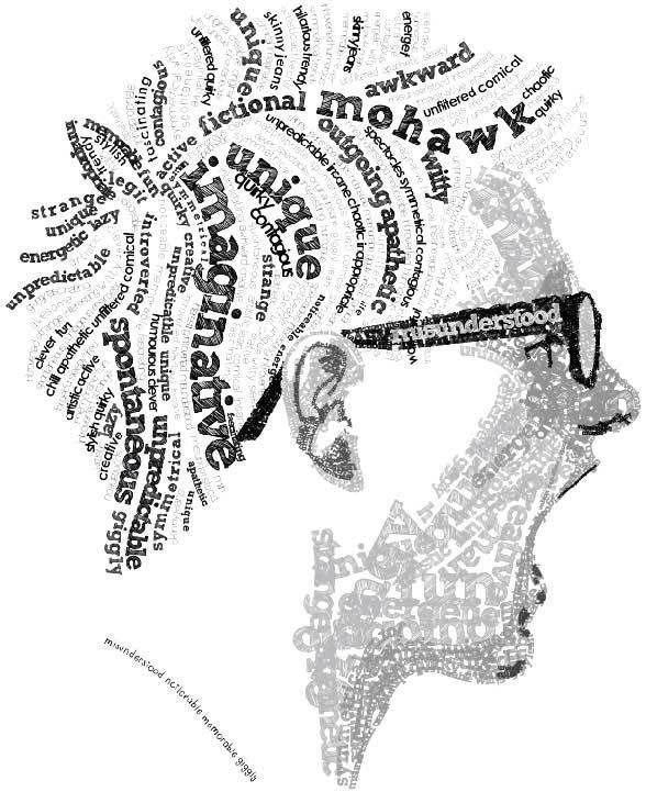 Typographic Self-Portrait by Jordan Seegmiller, via Behance