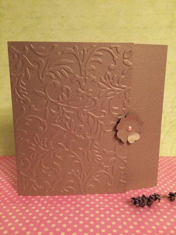 Wedding invitations/Embossed Invitation di handmadebymaddy su Etsy