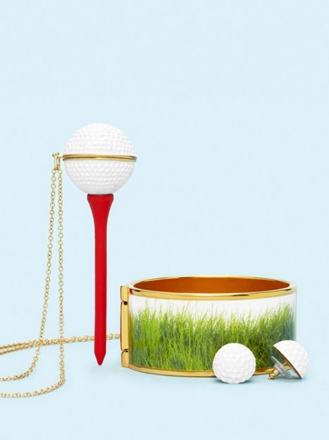 **On Par Studs ~ On Par Golf Ball Pendant ~ On Par Grass Bangle ~ kate spade ~ I do not even play golf but these accessories are too cute!