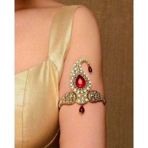 Beautiful Kundan Bajuband via http://www.CraftsVilla.com/jewellery-jewelry.html?p=2 KB01