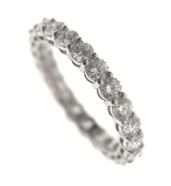 Sale LJW5726 - LJW Weekly Auction  30 May 2013 10:00 South Yarra Lot 2100 A FULL CIRCLE DIAMOND RING TOTALLING 1.78CTS BY TIFFANY & CO IN PLATINUM, BOXED  Estimate $ 3,000-4,000 #auction #ring #engagement #jewellery #wedding #diamonds