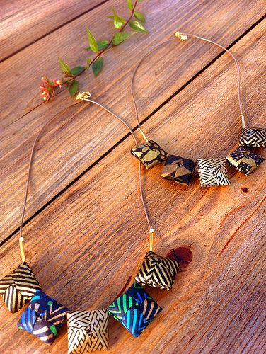 Origami Necklaces | Created by Mayumi Origami Accessories. B… | Flickr - Photo Sharing!