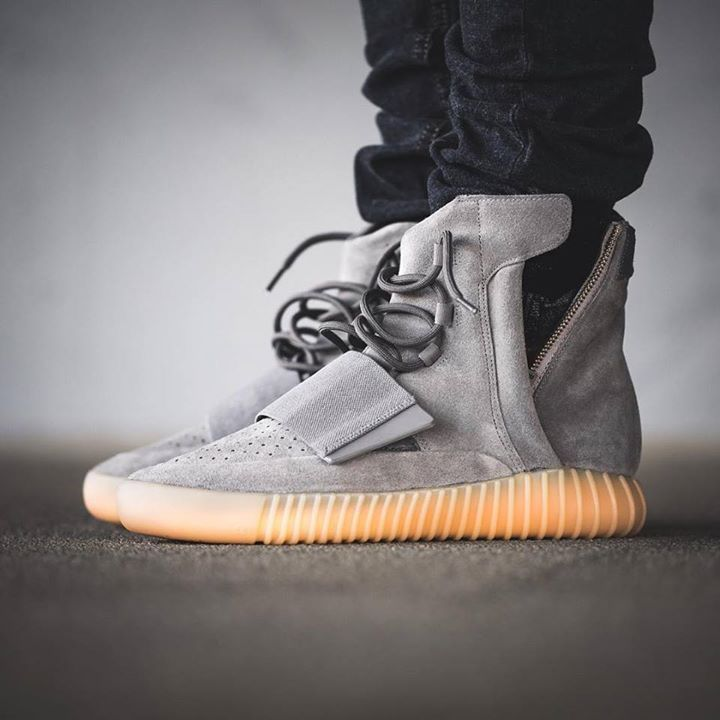 Who's feeling the Yeezy 750 Boost in Grey Gum? Launching this Saturday