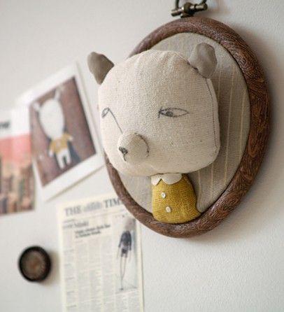 Embroidery Hoop Art from nechepurenka.com