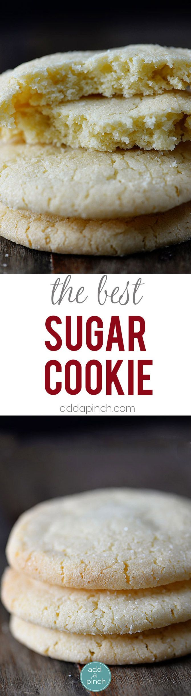 The Best Sugar Cookie Recipe - Sugar cookies make a favorite little cookie recipe for so many. Get this family-favorite recipe for chewy sugar cookies that everyone is sure to love. // addapinch.com (Best Desserts To Sell)